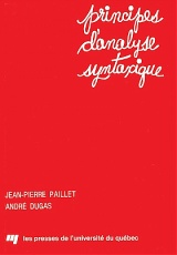 Principes d'analyse syntaxique