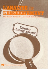 L' analyse de l'enseignement